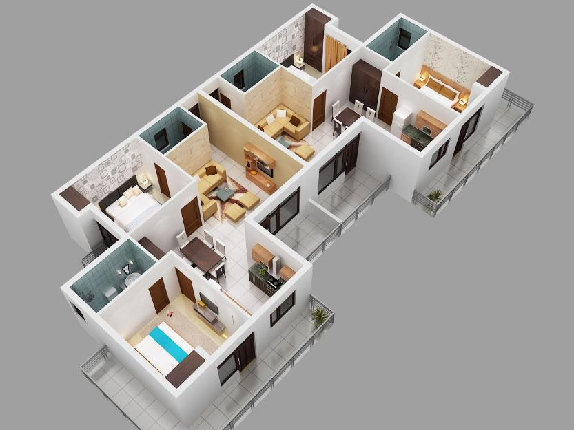 Apartment 3D Blueprints