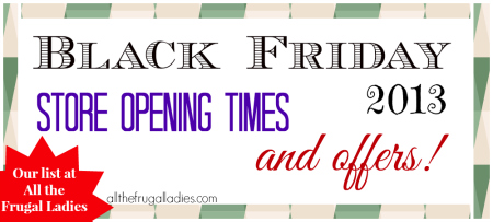Black Friday store opening times and offers