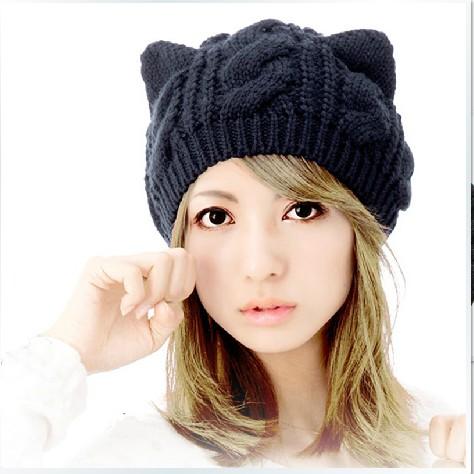 Kitty Ears Crochet Ski Beanie $6.59