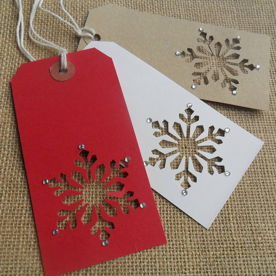 Snow Flake tags