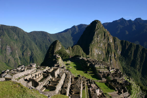 The stunning view upon reaching the summit of Machu Picchu