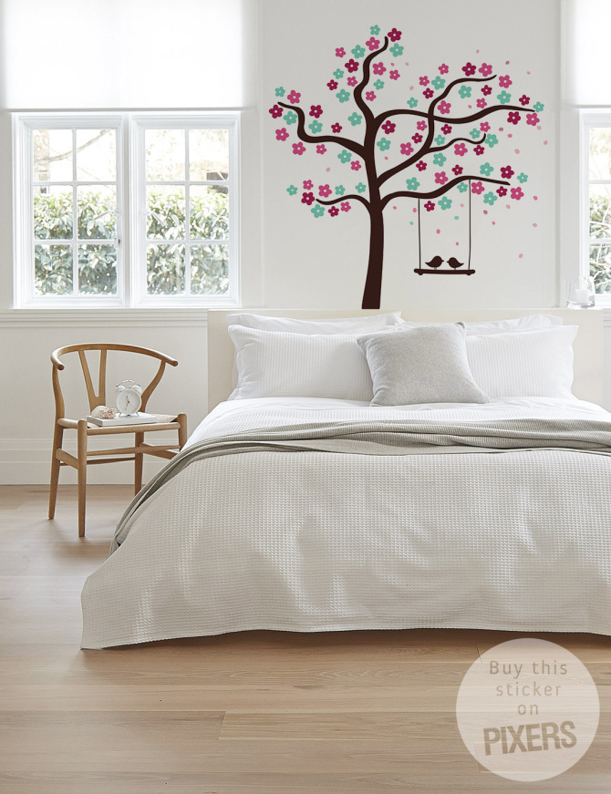 Murals and wall stickers can make all the difference - and at an affordable rate! Source: Pixers